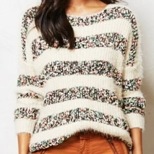 LA FEE VERTE chenille stripe slouchy sweater